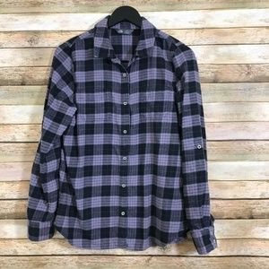 The North Face Womens L Checkered Flannel Shirt